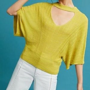 Knitted & Knotted Anthro Open Neck Batwing Sweater